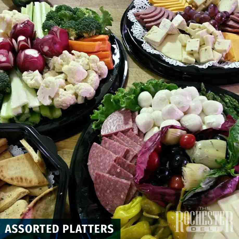 assorted platters