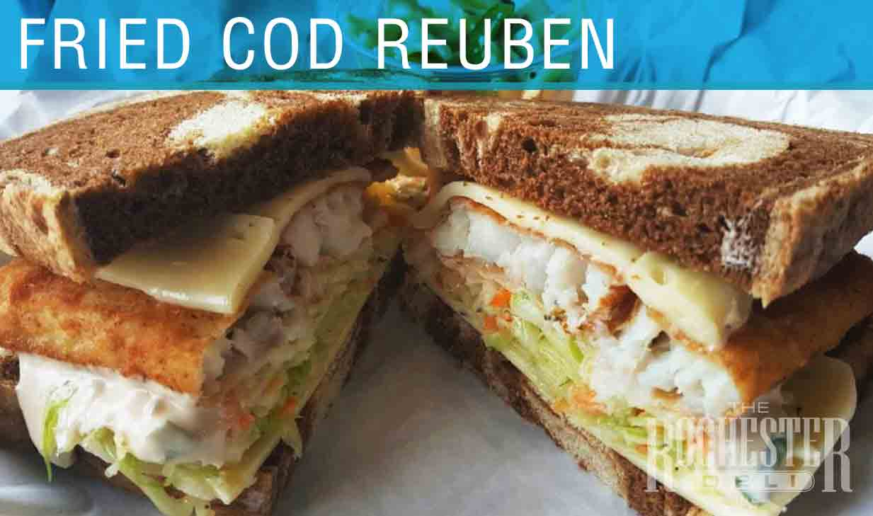 Fried Cod Reuben
